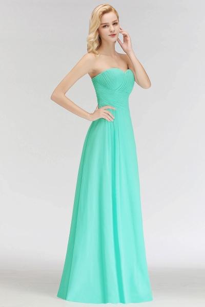 A-line Sweetheart Strapless Floor Length Ruffles Bridesmaid Dresses_6