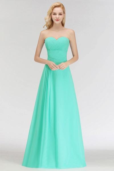 A-line Sweetheart Strapless Floor Length Ruffles Bridesmaid Dresses_5