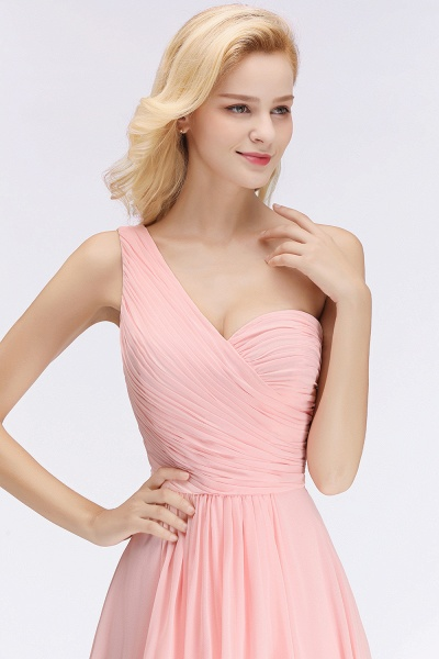 One-shoulder A-line Sweetheart Ruffles Chiffon Bridesmaid Dresses_5
