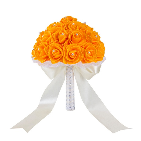 Colorful Rose Beading Bouquet for Wedding_7