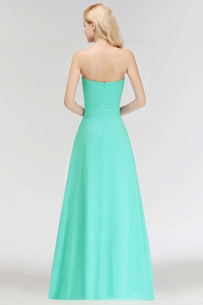 A-line Sweetheart Strapless Floor Length Ruffles Bridesmaid Dresses_3