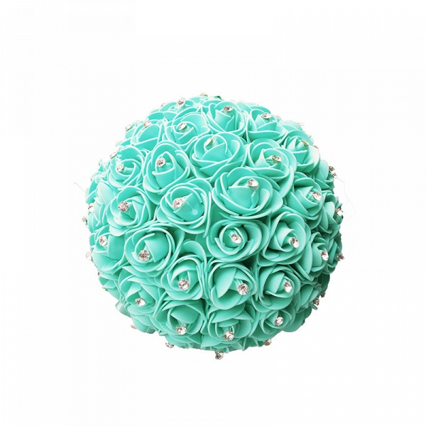 Feminine Multiple Colors Wedding Bouquet with Ribbons_6
