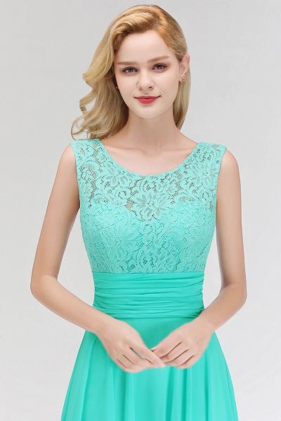 A-line Lace Top Floor Length Sleeveless Chiffon Bridesmaid Dress_9