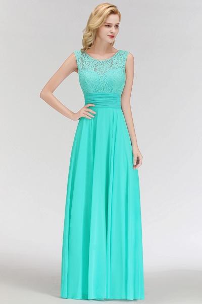 A-line Lace Top Floor Length Sleeveless Chiffon Bridesmaid Dress_7