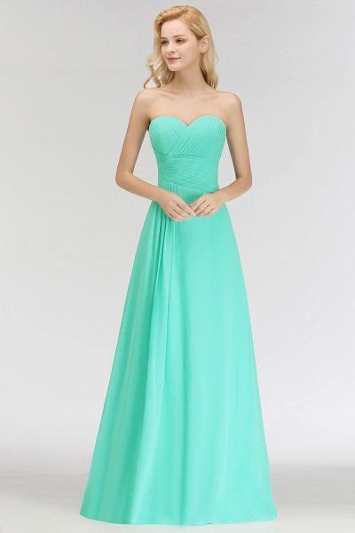 A-line Sweetheart Strapless Floor Length Ruffles Bridesmaid Dresses_7