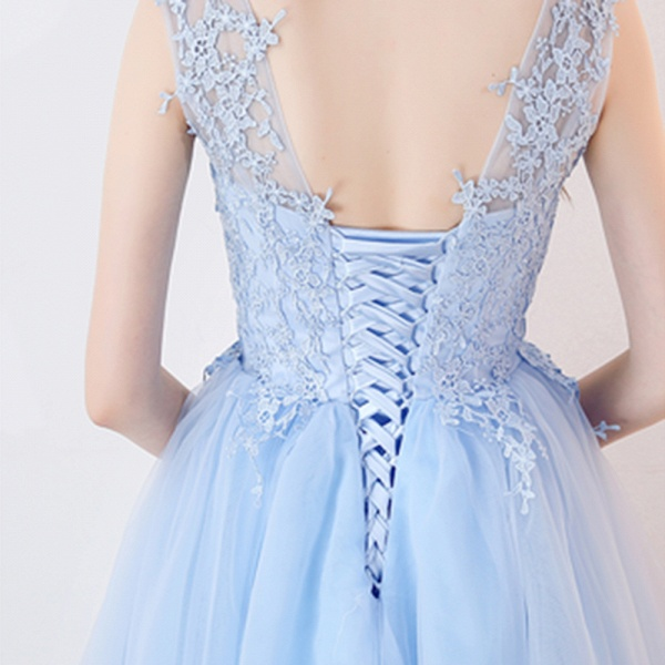 MARCIA | A-line Sleeveless Short Appliqued Top Tulle Homecoming Dresses_9