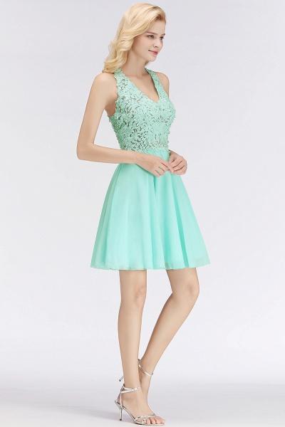A-line V-neck Sleeveless Appliques Chiffon Short Homecoming Dresses_6