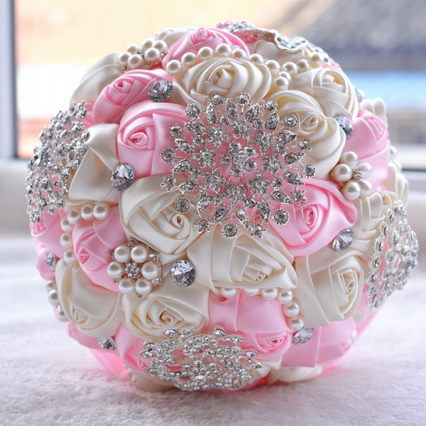 Stunning Beading Wedding Bouquet in Multiple Colors_3
