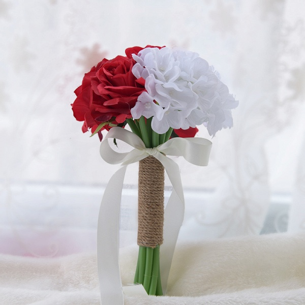 Real Touch Artificial Peony and Rose Wedding Bouquet_3