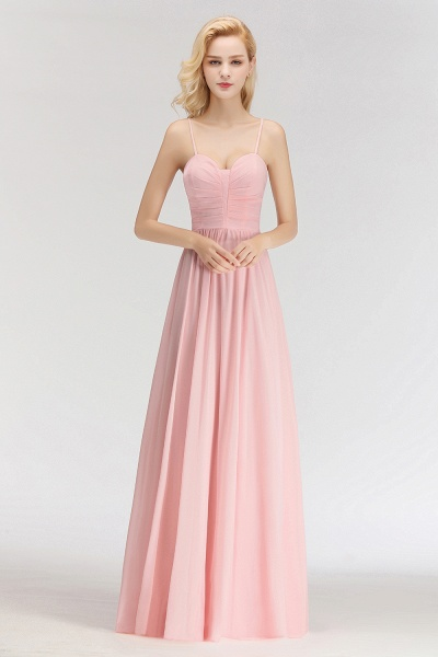 Spaghetti Straps A-line Long Sweetheart Sleeveless Bridesmaid Dresses_5
