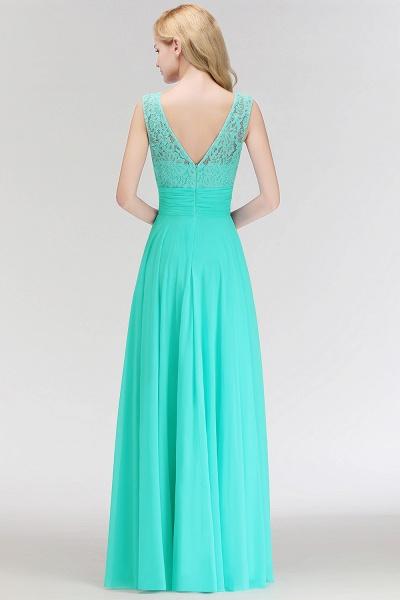 A-line Lace Top Floor Length Sleeveless Chiffon Bridesmaid Dress_5