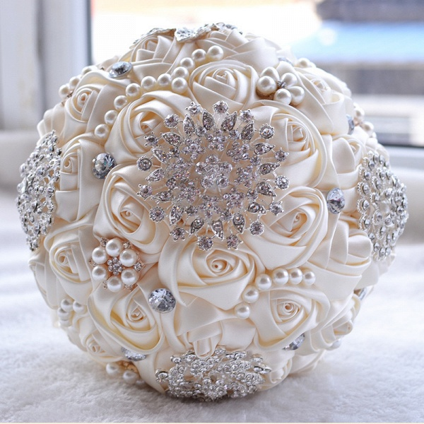 Stunning Beading Wedding Bouquet in Multiple Colors_2