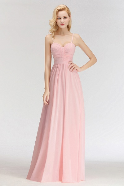 Spaghetti Straps A-line Long Sweetheart Sleeveless Bridesmaid Dresses_6