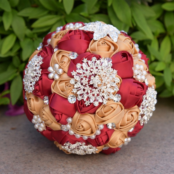Stunning Beading Wedding Bouquet in Multiple Colors_4