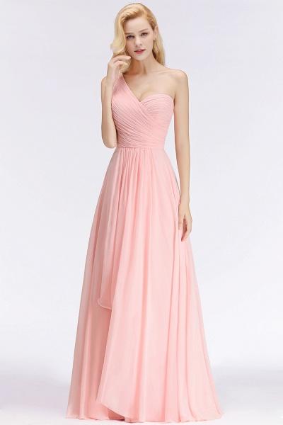 One-shoulder A-line Sweetheart Ruffles Chiffon Bridesmaid Dresses_4