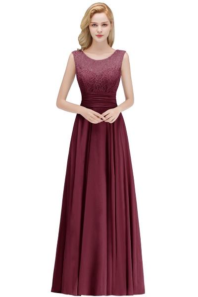 A-line Lace Top Floor Length Sleeveless Chiffon Bridesmaid Dress_2