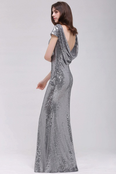 Women Sparkly Rose Gold Long Sequins Bridesmaid Dresses Prom/Evening Gowns_10