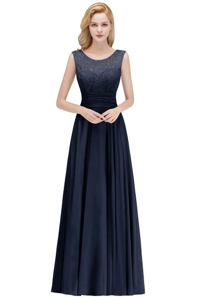 A-line Lace Top Floor Length Sleeveless Chiffon Bridesmaid Dress_3