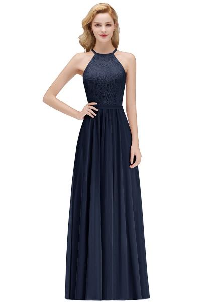 MARIANNA | A-line Sleeveless Halter Long Lace Chiffon Bridesmaid Dresses_3