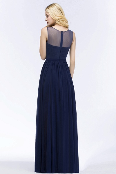 A-line Chiffon Appliques Scoop Sleeveless Floor-Length Bridesmaid Dresses_2
