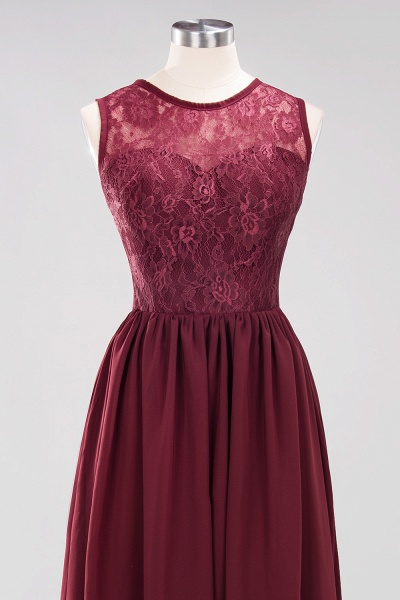 A-line Chiffon Lace Jewel Sleeveless Ruffles Floor-Length Bridesmaid Dresses with Appliques_10