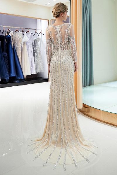 Fabulous Jewel Stretch Satin Mermaid Prom Dress_16