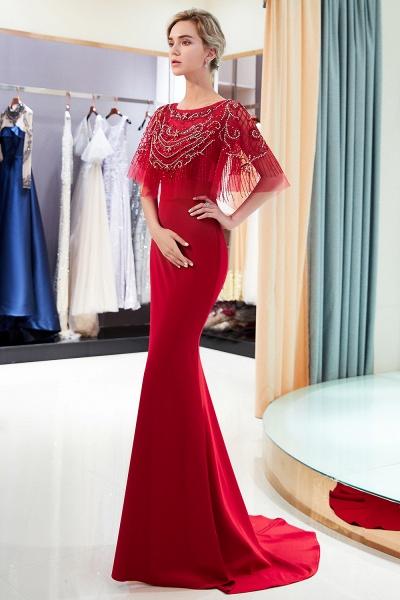 Attractive Jewel Stretch Satin Mermaid Prom Dress_11