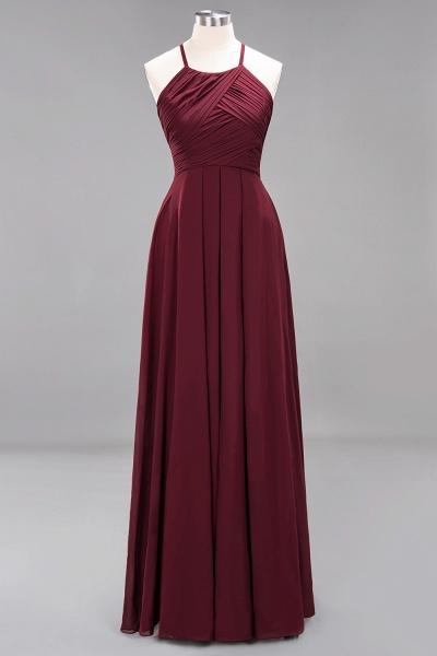 A-Line Chiffon Halter Ruffles Floor-Length Bridesmaid Dress_10
