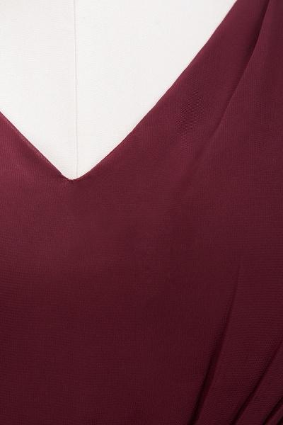 A-line Chiffon Lace V-Neck Sleeveless Mini Bridesmaid Dresses_42