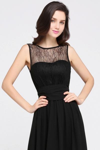 A-Line Chiffon Lace Jewel Sleeveless Keyhole Floor-Length Bridesmaid Dresses_6
