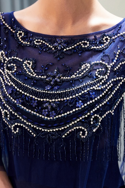 Attractive Jewel Stretch Satin Mermaid Prom Dress_10