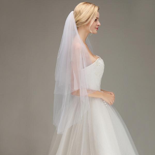 Tulle Bridal Veil Wedding Veil with Comb_4