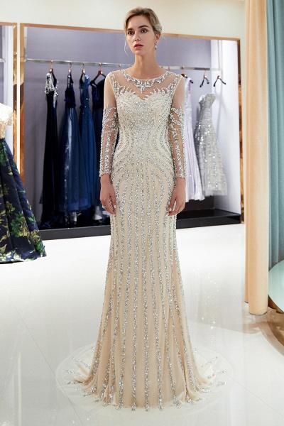 Fabulous Jewel Stretch Satin Mermaid Prom Dress_1