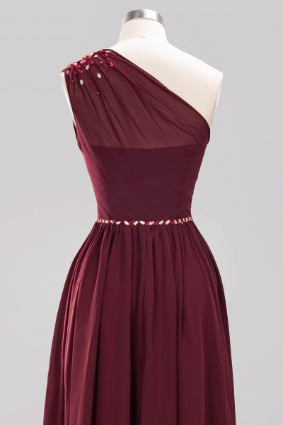 Elegant A-Line Burgundy Chiffon One-Shoulder Sleeveless Ruffles Floor-Length Bridesmaid Dresses with Beadings_44