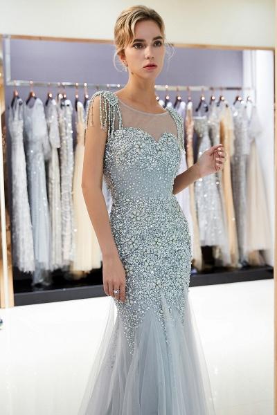 Fascinating Jewel Tulle Mermaid Prom Dress_8