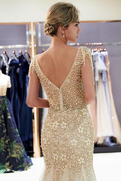 Fascinating Jewel Tulle Mermaid Prom Dress_18