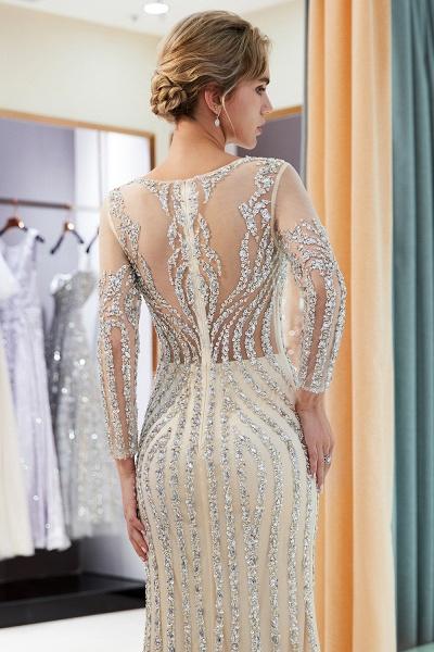 Fabulous Jewel Stretch Satin Mermaid Prom Dress_17