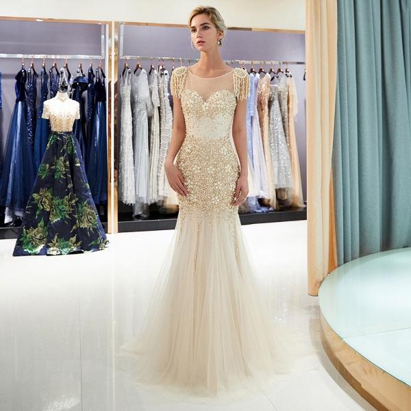 Fascinating Jewel Tulle Mermaid Prom Dress_1