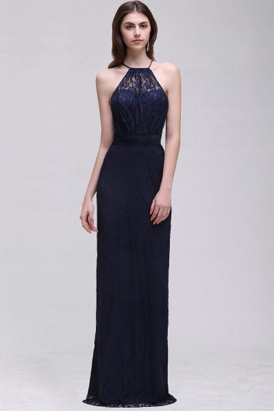 Elegant A-Line Lace Halter Sleeveless Floor-length Bridesmaid Dress_1