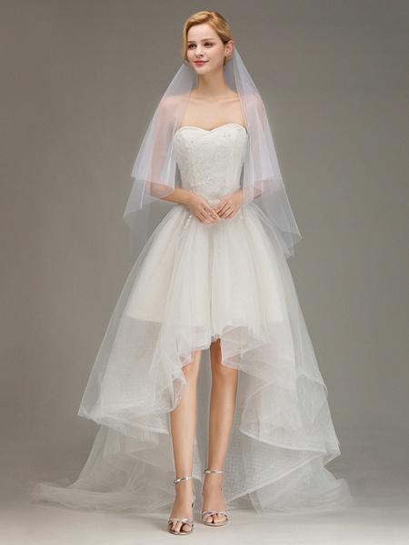 Tulle Bridal Veil Wedding Veil with Comb_5