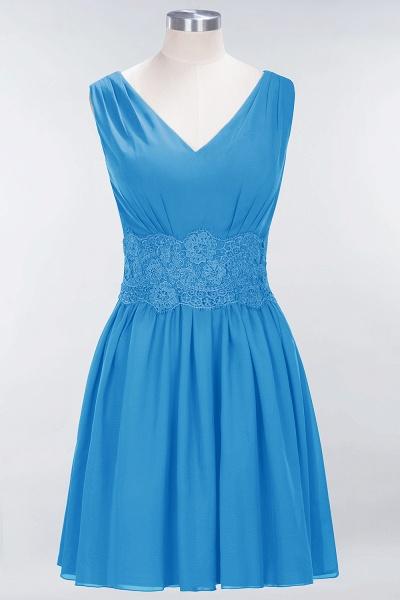 A-line Chiffon Lace V-Neck Sleeveless Mini Bridesmaid Dresses_24