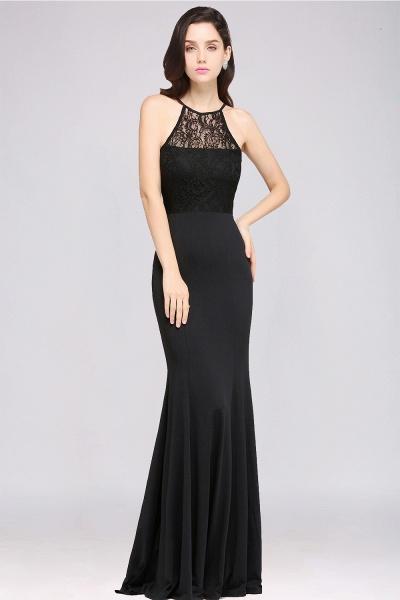 Sexy Mermaid Chiffon Lace Jewel Sleeveless Keyhole Floor-Length Bridesmaid Dress_1