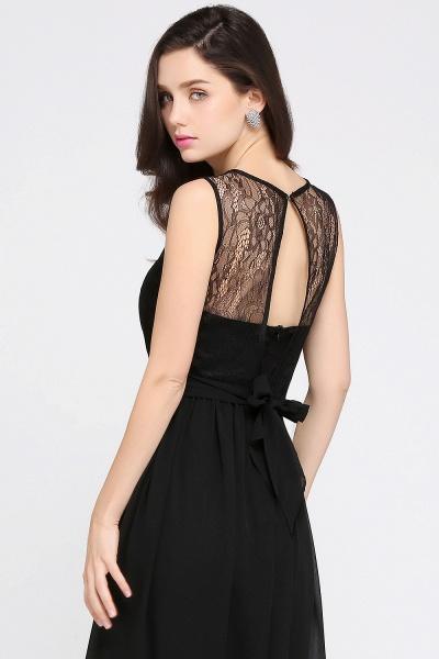 A-Line Chiffon Lace Jewel Sleeveless Keyhole Floor-Length Bridesmaid Dresses_7
