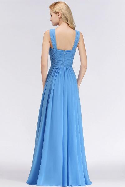 BM0048 A-Line Chiffon Straps Sleeveless Ruffles Floor Length Bridesmaid Dresses_2