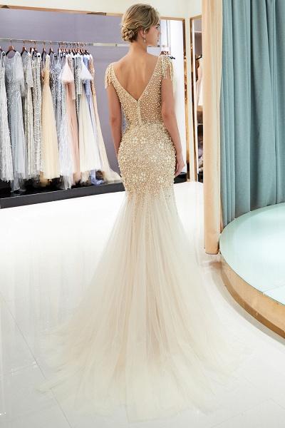 Fascinating Jewel Tulle Mermaid Prom Dress_13
