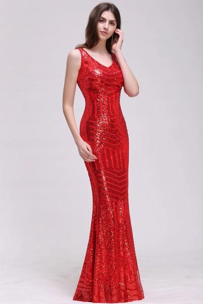 Elegant Mermaid Sequined Jewel Sleeveless Floor-Length Bridesmaid Dress_1