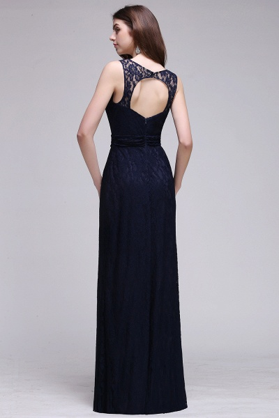 Elegant A-Line Lace Scoop Sleeveless Hollow-Back Floor-Length Bridesmaid Dress_2