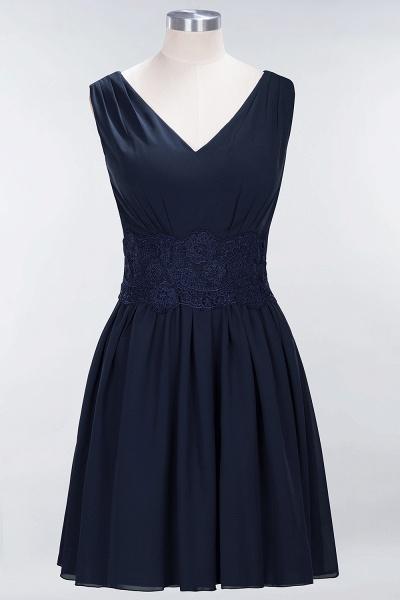A-line Chiffon Lace V-Neck Sleeveless Mini Bridesmaid Dresses_27