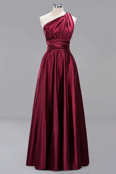 BM0143 Simple A-Line V-Neck Sleeveless Ruffles Floor Length Bridesmaid Dress