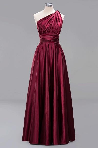 BM0143 Simple A-Line V-Neck Sleeveless Ruffles Floor Length Bridesmaid Dress_10